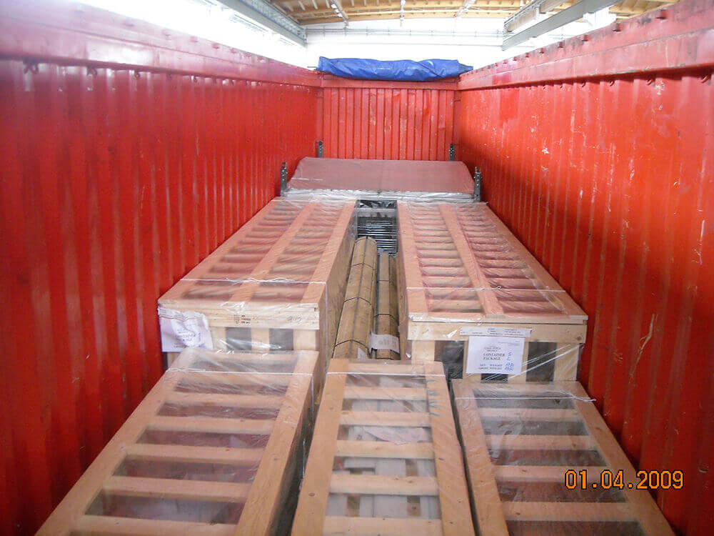 Carico container Mazza Imballaggi